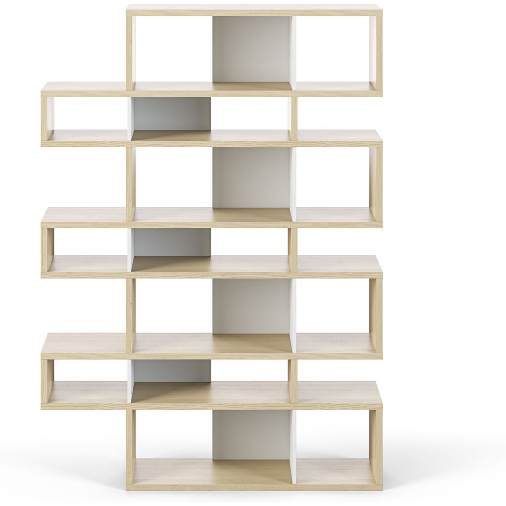 TemaHome London 003 Compostition Bookcase | Oak Frame, Pure White Backs 9500.319723
