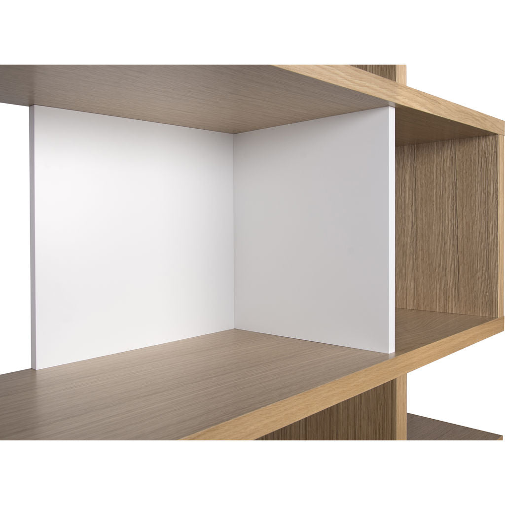 TemaHome London 003 Compostition Bookcase Oak Frame, Pure White ...