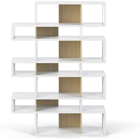 TemaHome London 003 Compostition Bookcase | Pure White Frame, Oak Backs 9500.319747