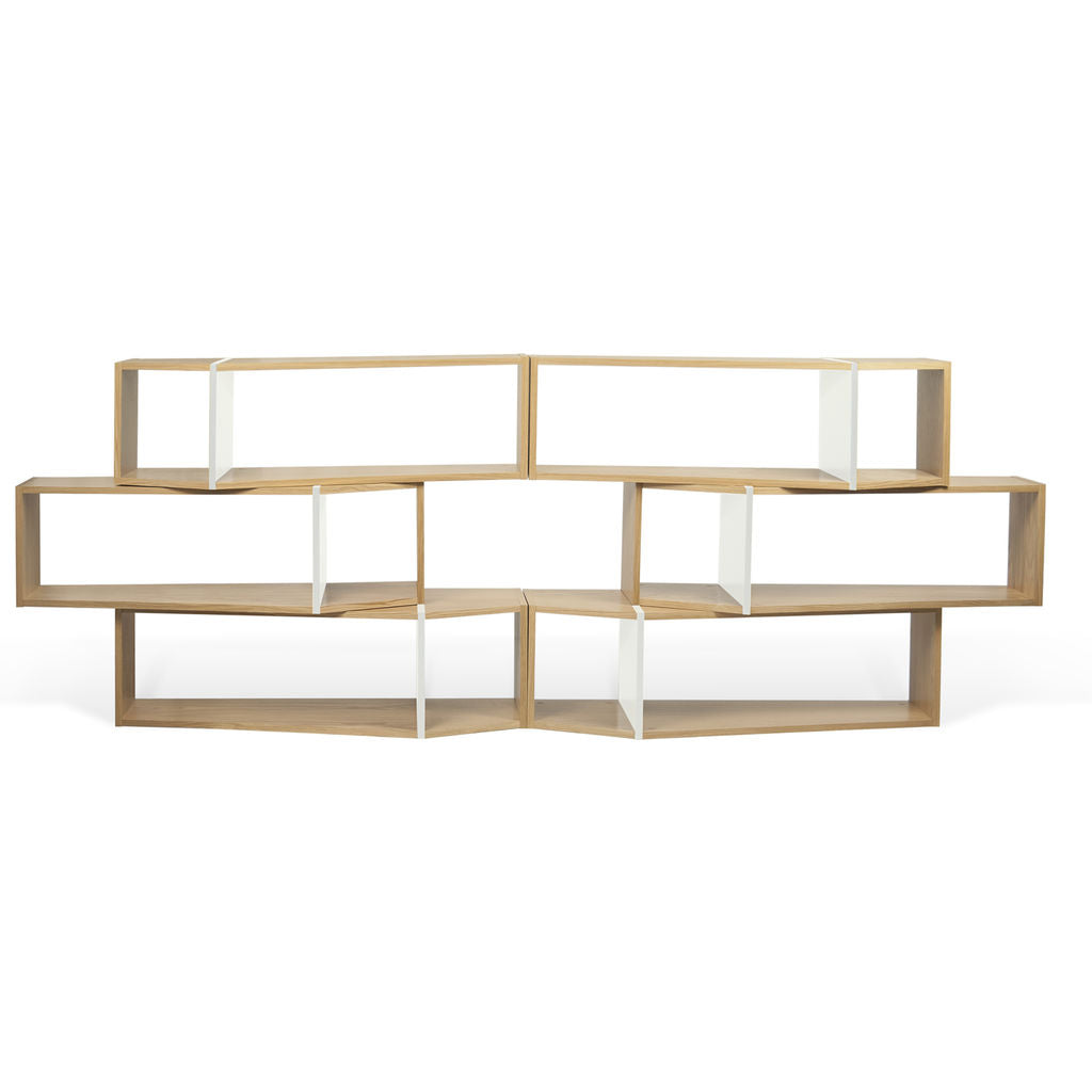 TemaHome One Module Composition Shelf | Oak / Pure White 9500.320057