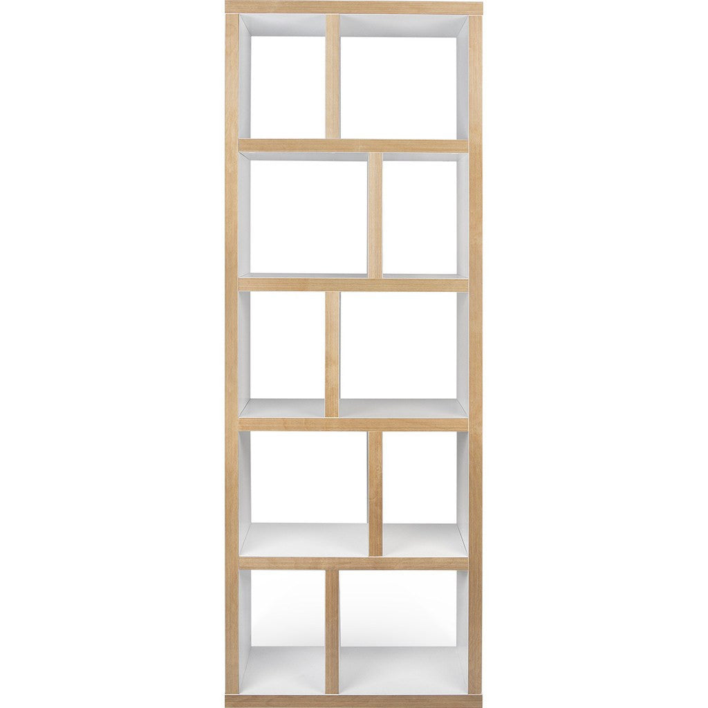 TemaHome Berlin 5 Levels Bookcase 70 Cm | Pure White / Plywood 118999-BERLIN570