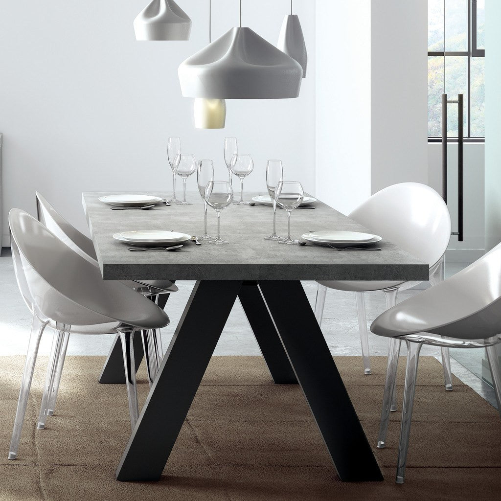 temahome apex dining table concrete look pure black. Black Bedroom Furniture Sets. Home Design Ideas