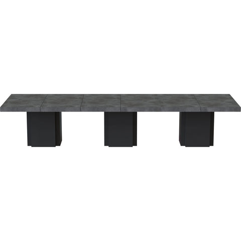 TemaHome Set of 3 Dusk Tables | Concrete Look / Pure Black 9500.613258