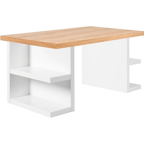 TemaHome Multi 180 Storage Leg Dining Table | Oak Top / Pure White Legs 9500.620232