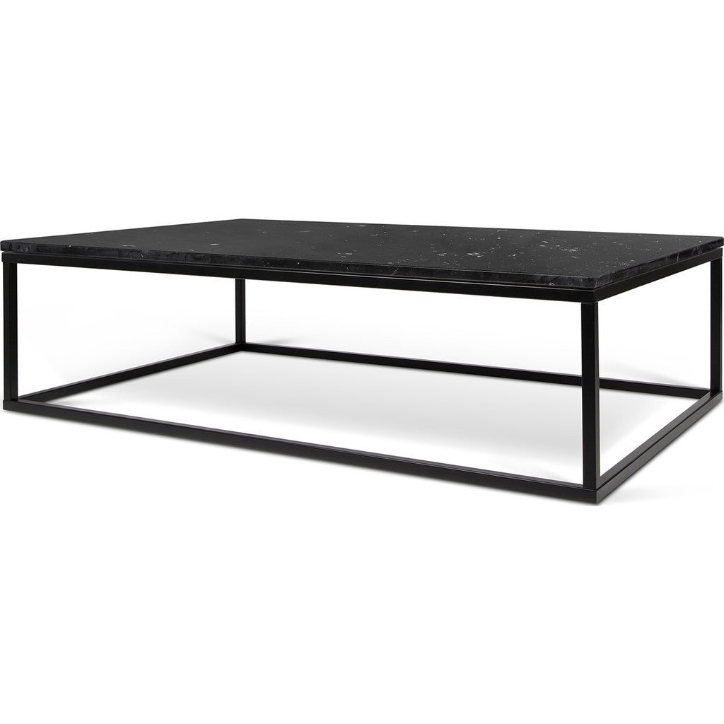 temahome prairie 47x30 marble coffee table black marble top