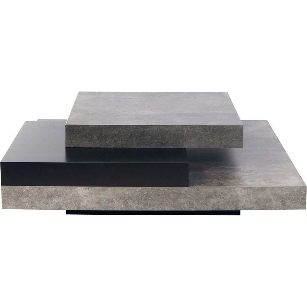 TemaHome Slate Coffee Table | Concrete Look / Pure Black 9700.624605 ...