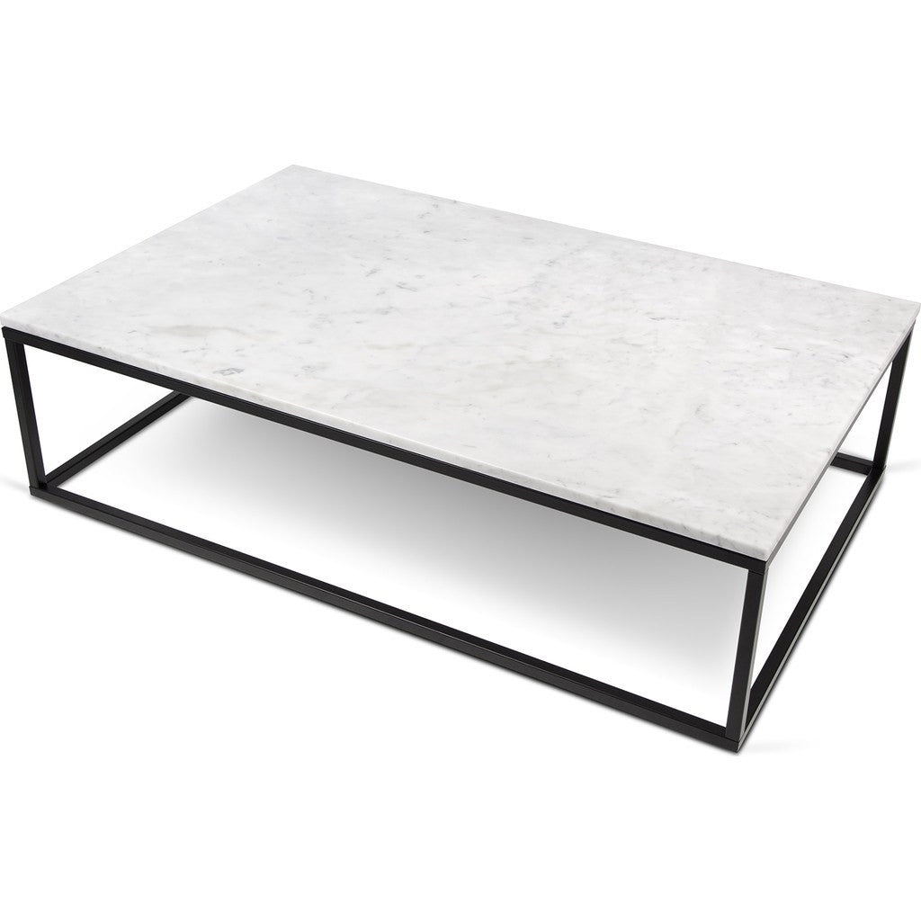 TemaHome Prairie X Marble Coffee Table White Marble TopBlack - Rectangle white marble coffee table