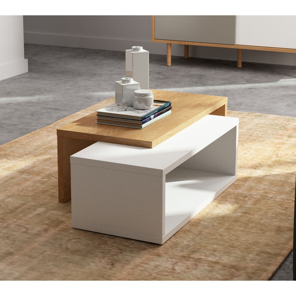Temahome Jazz Coffee Table Pure White Oak Sportique