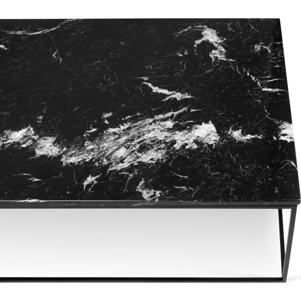 Temahome gleam 47x30 marble coffee table black marble black temahome gleam 47x30 marble coffee table black marble black lacquered steel 187042 gleam47mar geotapseo Image collections