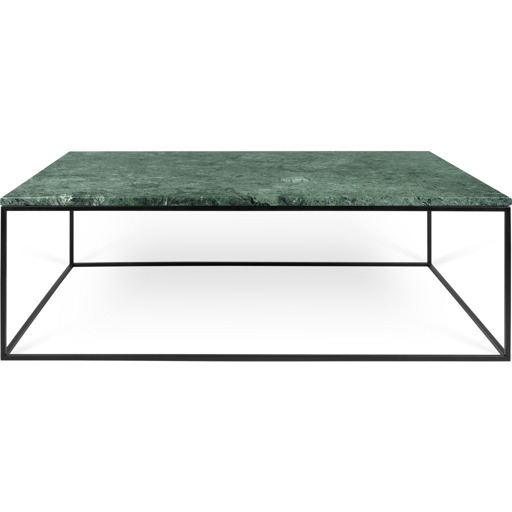 Gleam White Marble Black Coffee Table By Temahome: TemaHome Gleam 47x30 Marble Coffee Table Green Marble