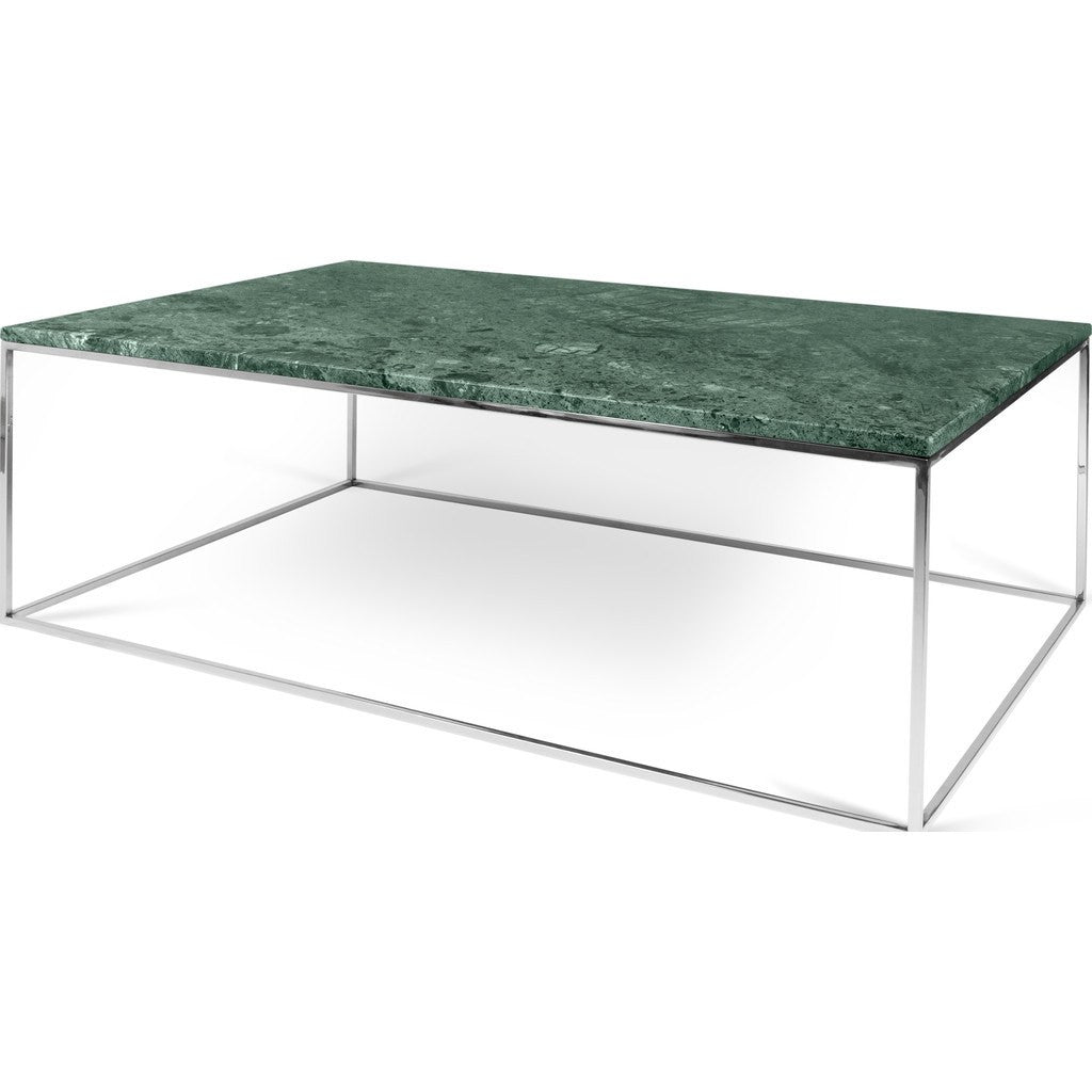 Marble And Chrome Coffee Table: TemaHome Gleam 47x30 Marble Coffee Table Green Marble