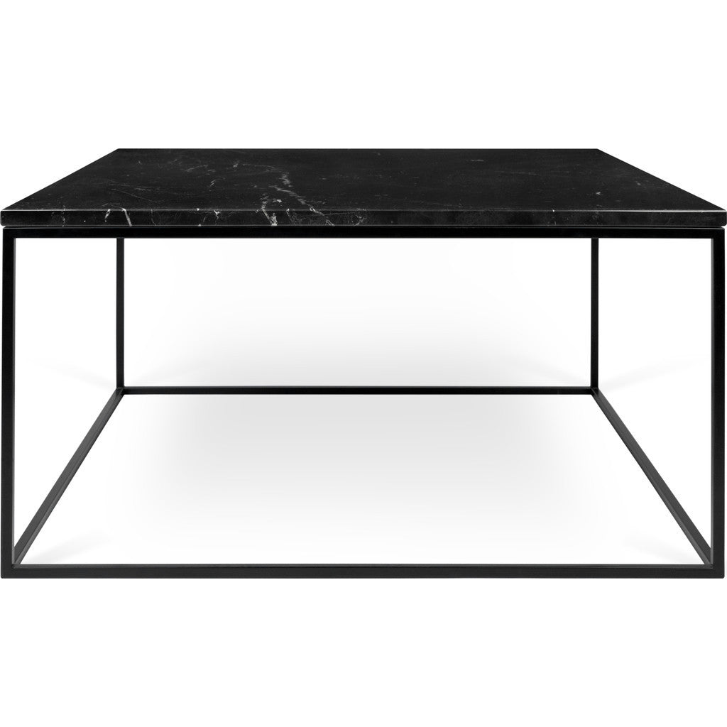 TemaHome Gleam 30x30 Marble Coffee Table | Black Marble / Black Lacquered  Steel 187042 GLEAM30MAR ...