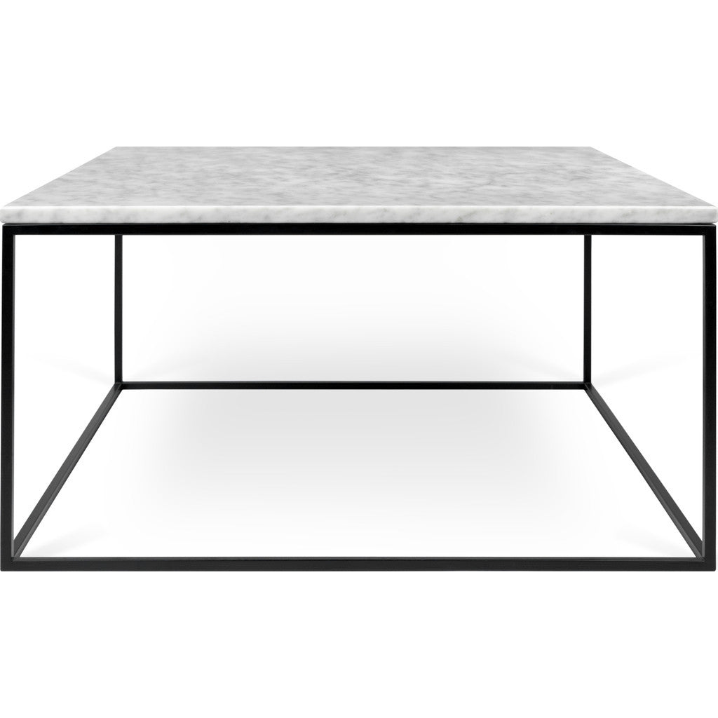 TemaHome Gleam X Marble Coffee Table White Marble Black - Rectangle white marble coffee table