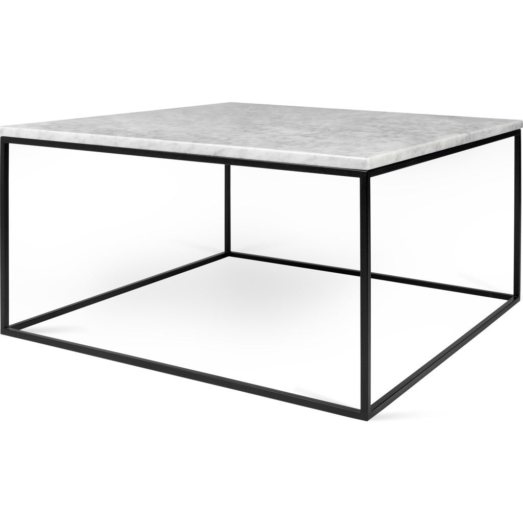 ... TemaHome Gleam 30x30 Marble Coffee Table | White Marble / Black  Lacquered Steel 187042 GLEAM30MAR ...