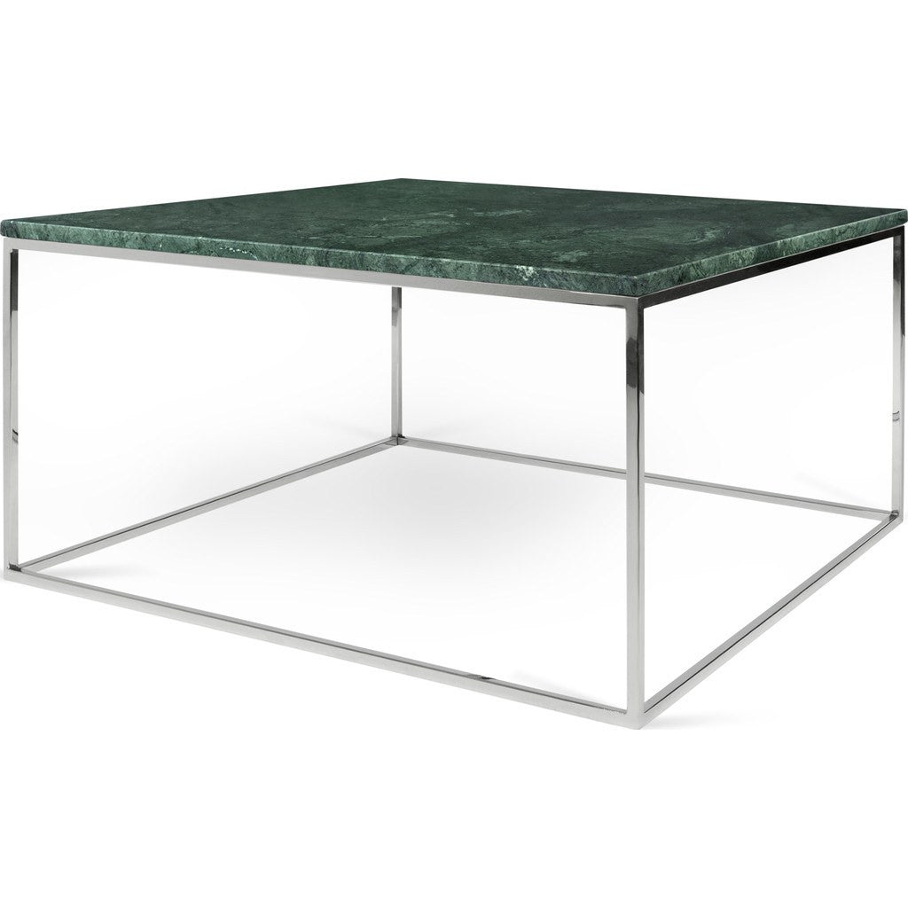 Gleam White Marble Black Coffee Table By Temahome: TemaHome Gleam 30x30 Marble Coffee Table Green Marble