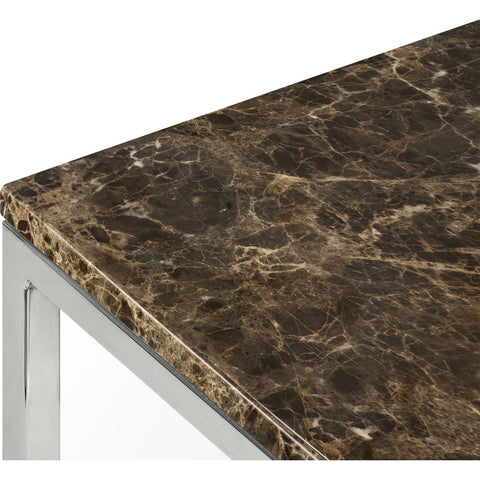 "TemaHome Prairie 47 X 30"" Marble Coffee Table 