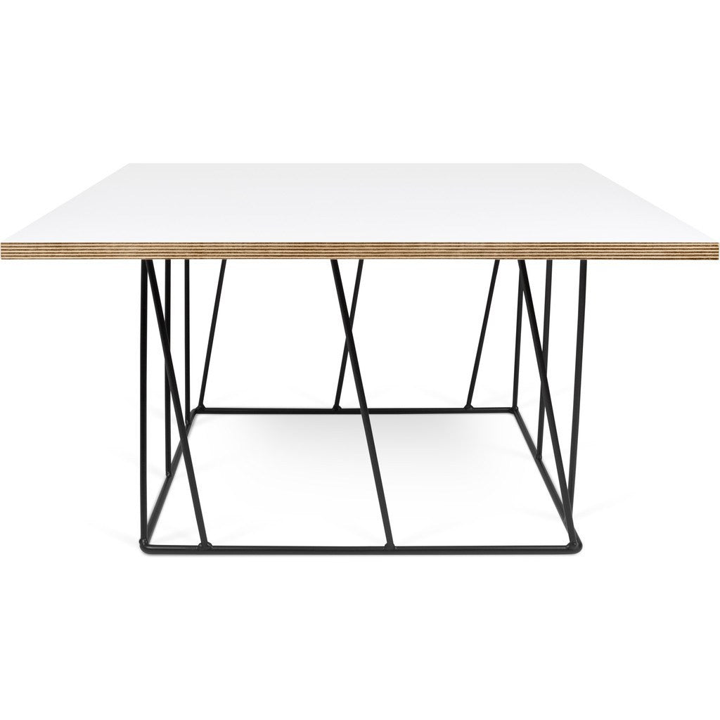 TemaHome Helix 30x30 Coffee Table | Pure White U0026 Plywood / Black Lacquered  Steel 189042  ...