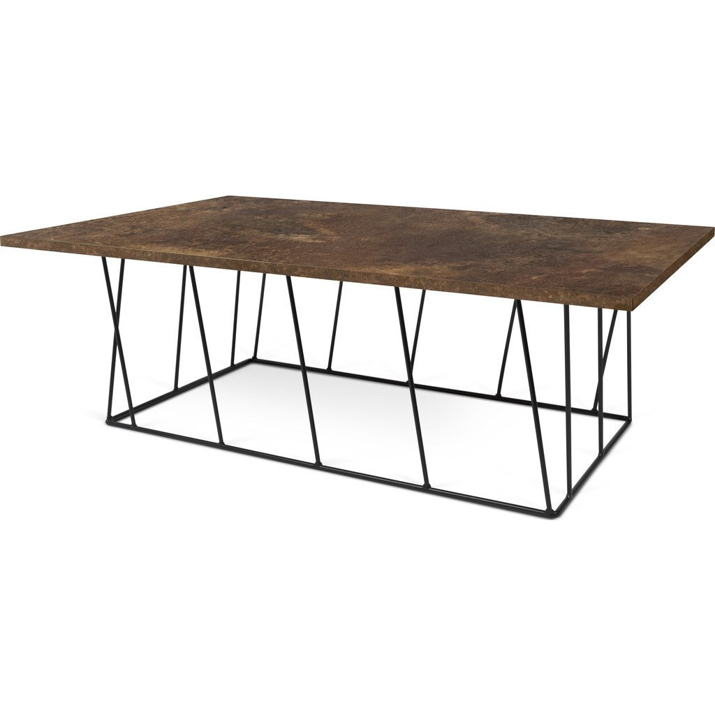 ... TemaHome Helix 47x30 Coffee Table | Rusty Look / Black Lacquered Steel  189042 HELIX47 ...