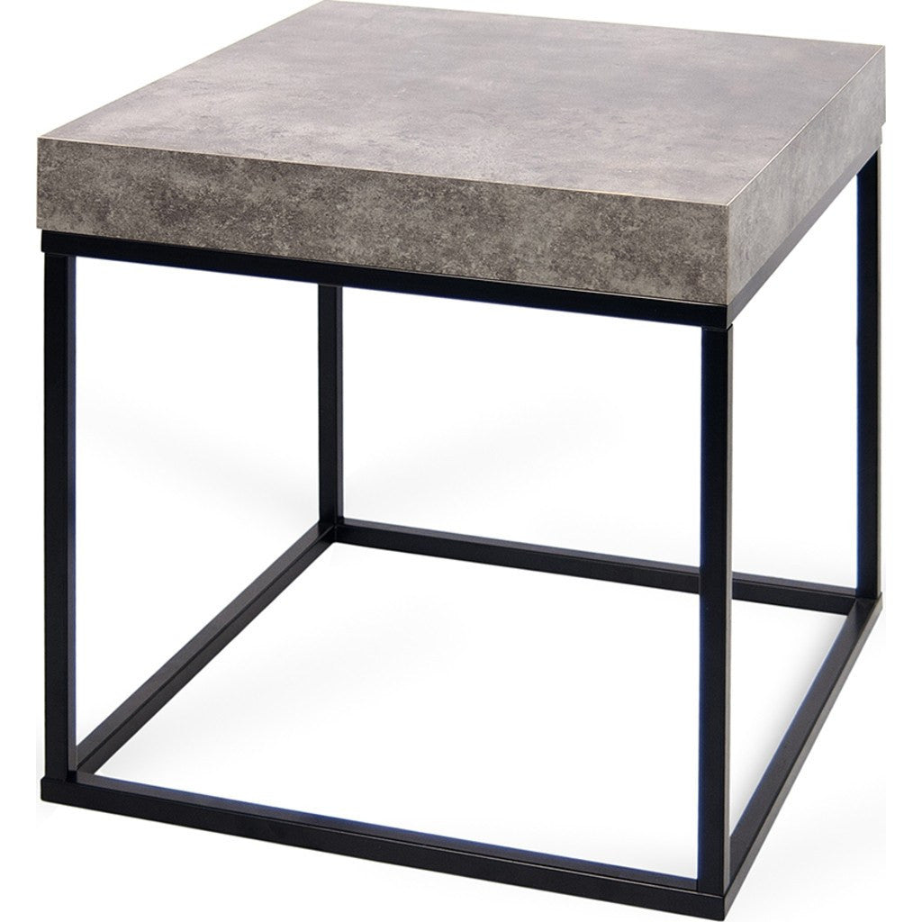 ... TemaHome Petra End Table | Concrete Look Top / Black Legs 145043 PETRA  ...