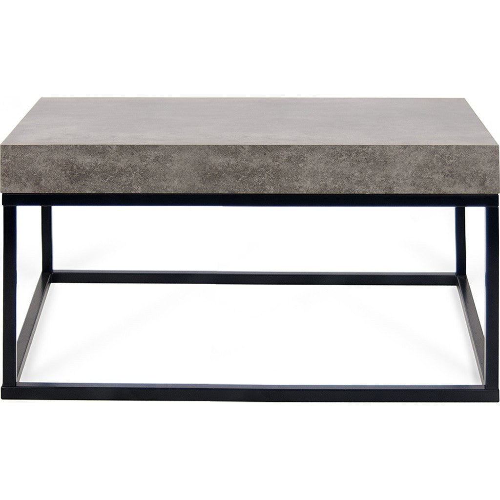 Superieur ... TemaHome Petra 30X30 Coffee Table | Concrete Look Top / Black Legs  145042 PETRA30 ...