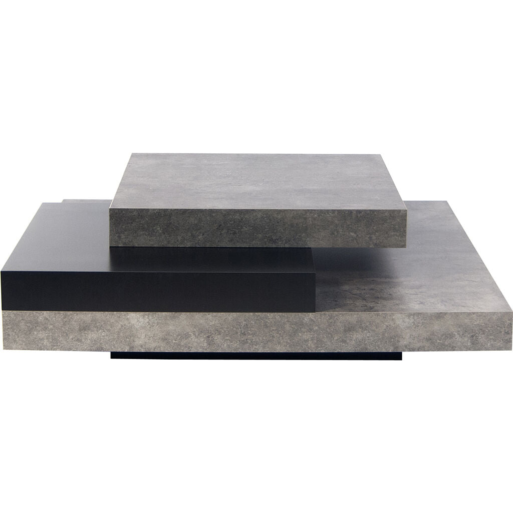 Temahome Slate 35x35 Coffee Table | Concrete Look/Pure Black