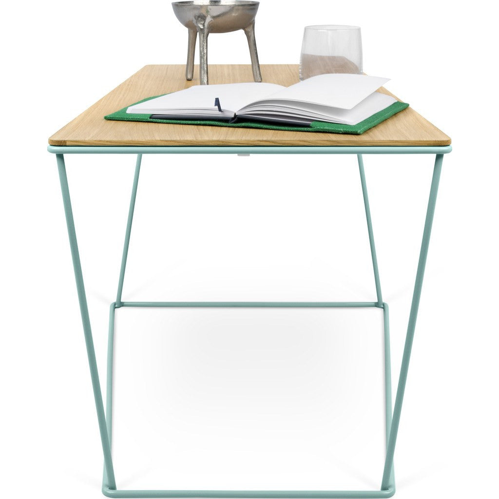 Charmant ... TemaHome Opal Wide Side Table | Oak / Sea Green Lacquered Steel  201042 OPAL ...