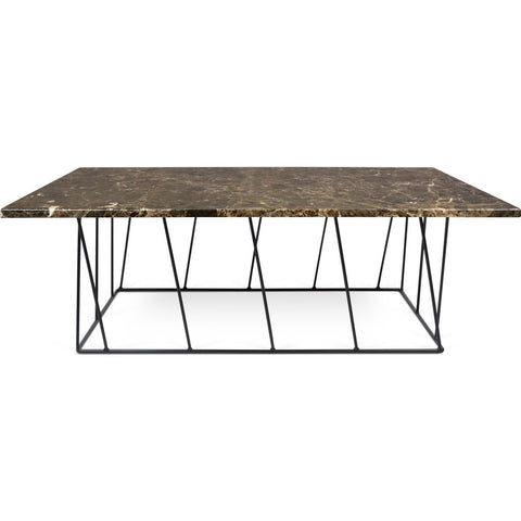TemaHome Helix 47x30 Marble Coffee Table | Brown Marble / Black Lacquered Steel 189042-HELIX47MAR
