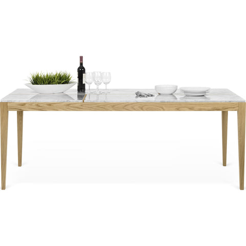 Temahome Utile Dining Table | White Marble/Oak