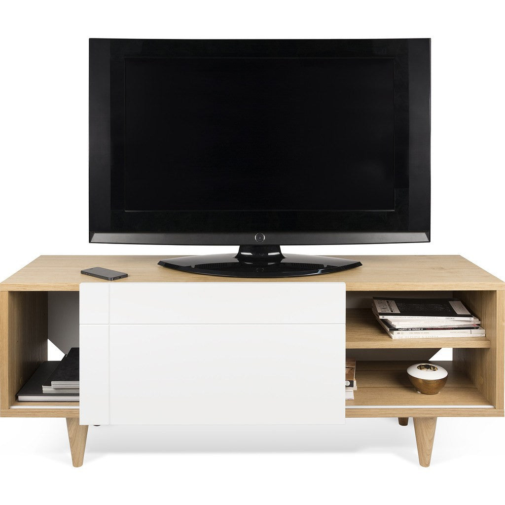 TemaHome Cruz Tv Table | Oak / Pure White 185060-CRUZTV