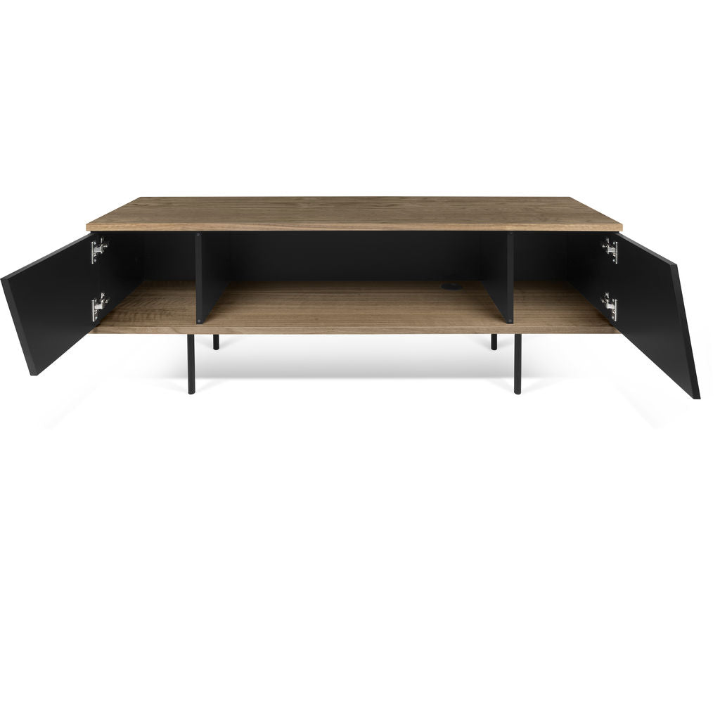 TemaHome Dixie TV Table | Walnut / Pure Black 9003.639289