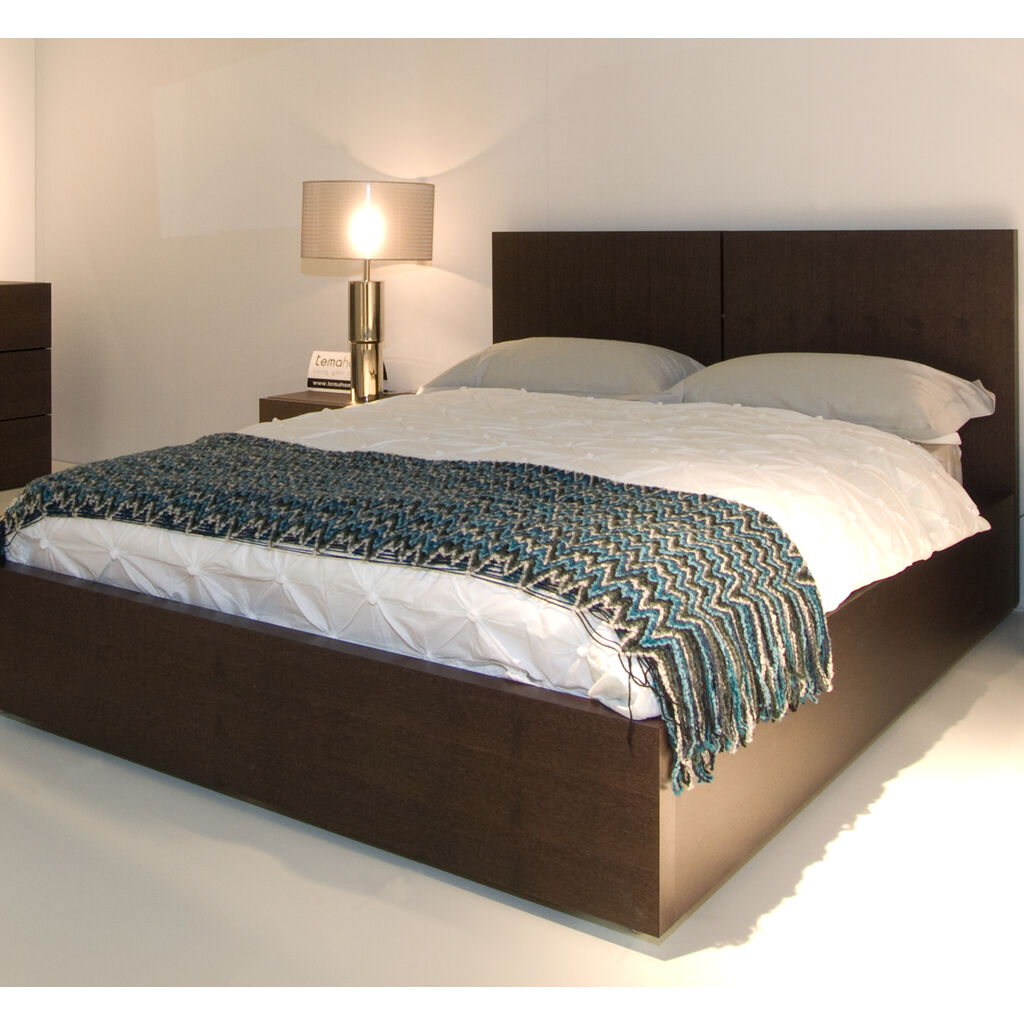 Temahome Aurora King Bed with Mattress Support | Chocolate