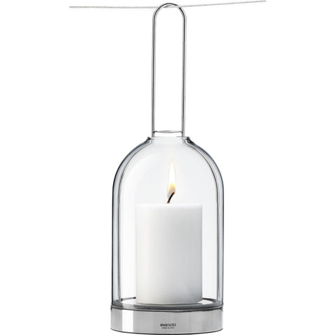 Eva Solo Hurricane Lamp w/ Hanging Handle | Silver