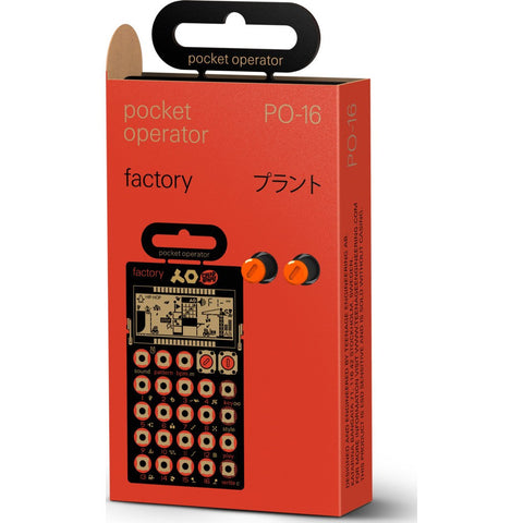 Teenage Engineering PO-16 Factory Pocket Music Operator Orange