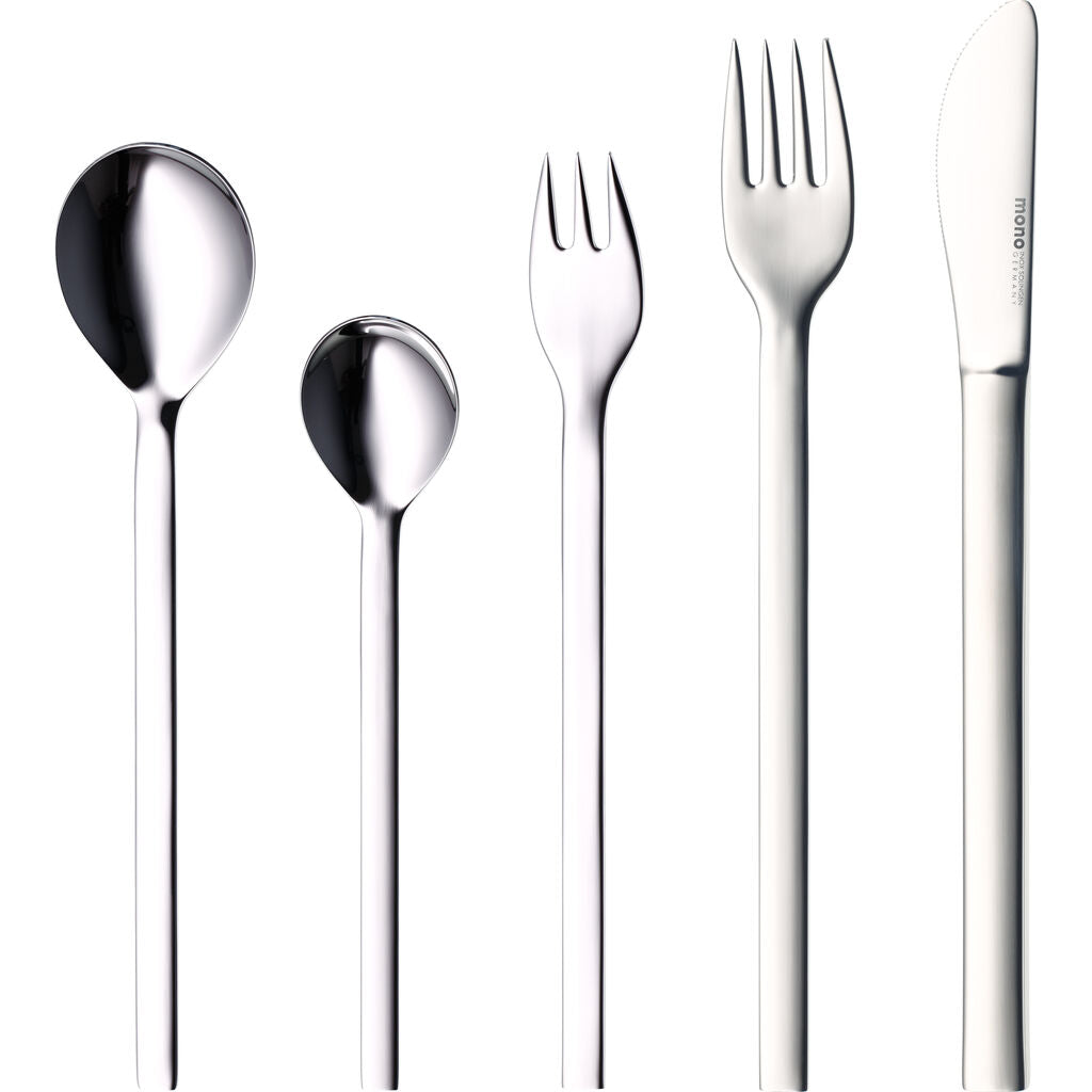 Mono Mono-A 5-Piece Flatware Set with Short Knife Blade | Mirror Finish 60738