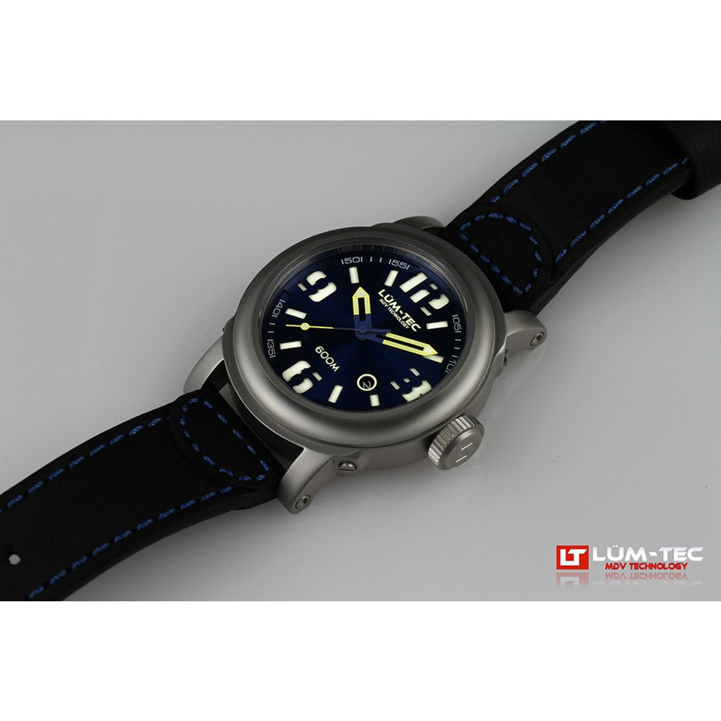 Lum-Tec 600M-2 Abyss Watch | Leather Strap