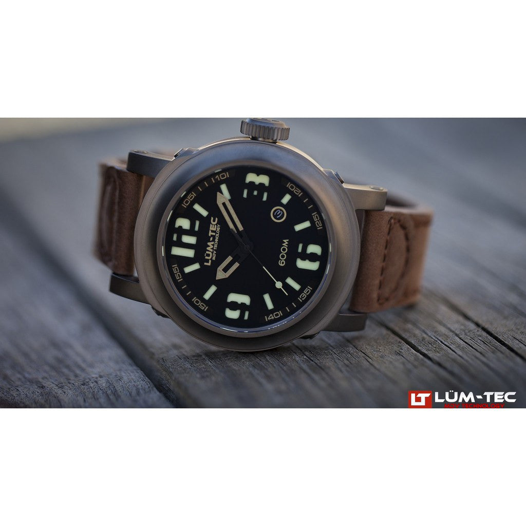 Lum-Tec 600M-3 Abyss Watch | Leather Strap
