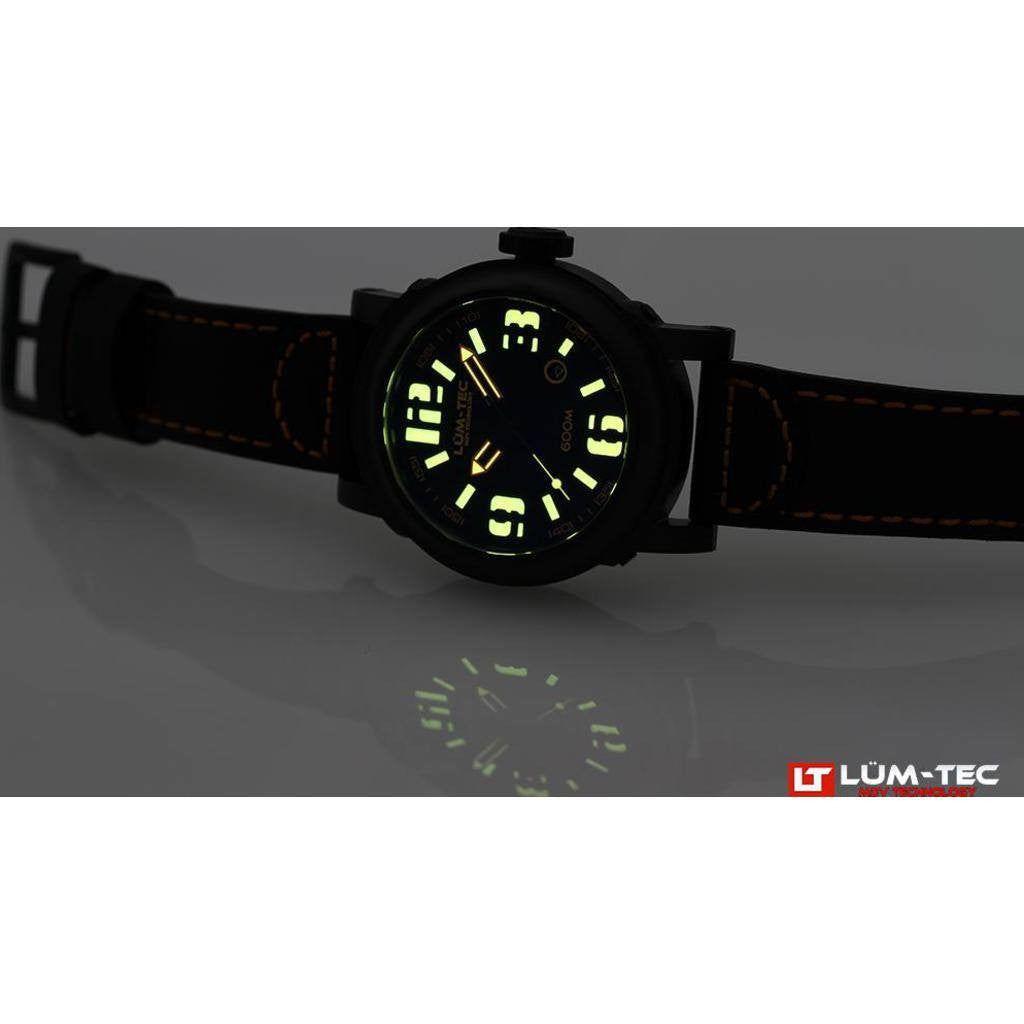 Lum-Tec 600M-4 Abyss Watch | Leather Strap