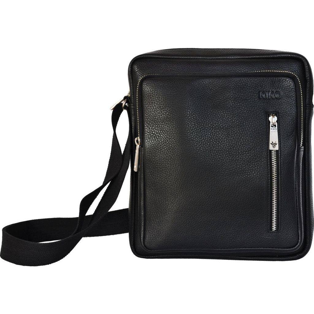 Kiko Leather Messenger Bag | Black 603