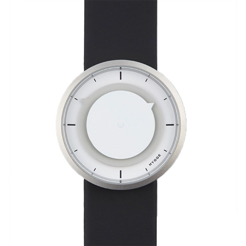 Hygge 3012 Series White/Cool Grey Watch | Leather