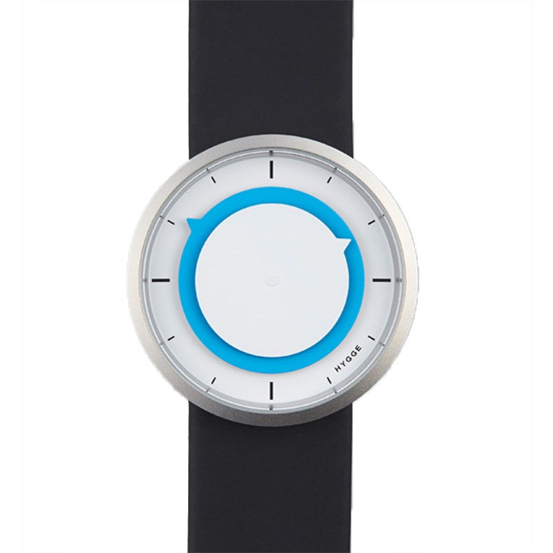 Hygge 3012 Series White/Blue Watch | Leather