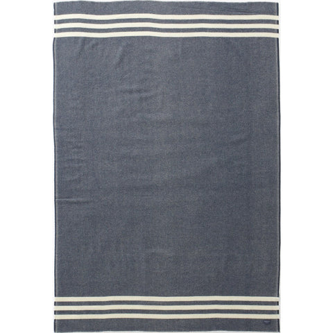 "Faribault Trapper Wool Throw | Navy/Natural 6201 50"" x 72"""