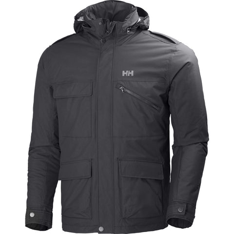 Helly Hansen Men's Universal Moto Insulated Rain Jacket | Ebony M 62471_980-M