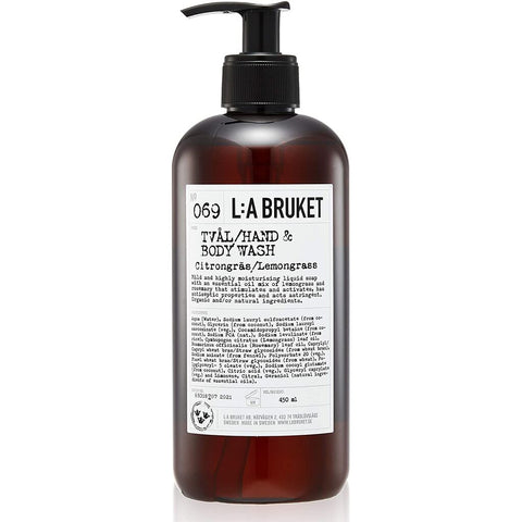 L:A Bruket No 069 Hand & Body Wash | Lemongrass 250ml 10556