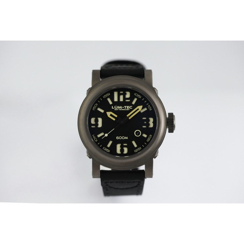 Lum-Tec 600M-1 Abyss Diving Watch | Matte Black 600M Series