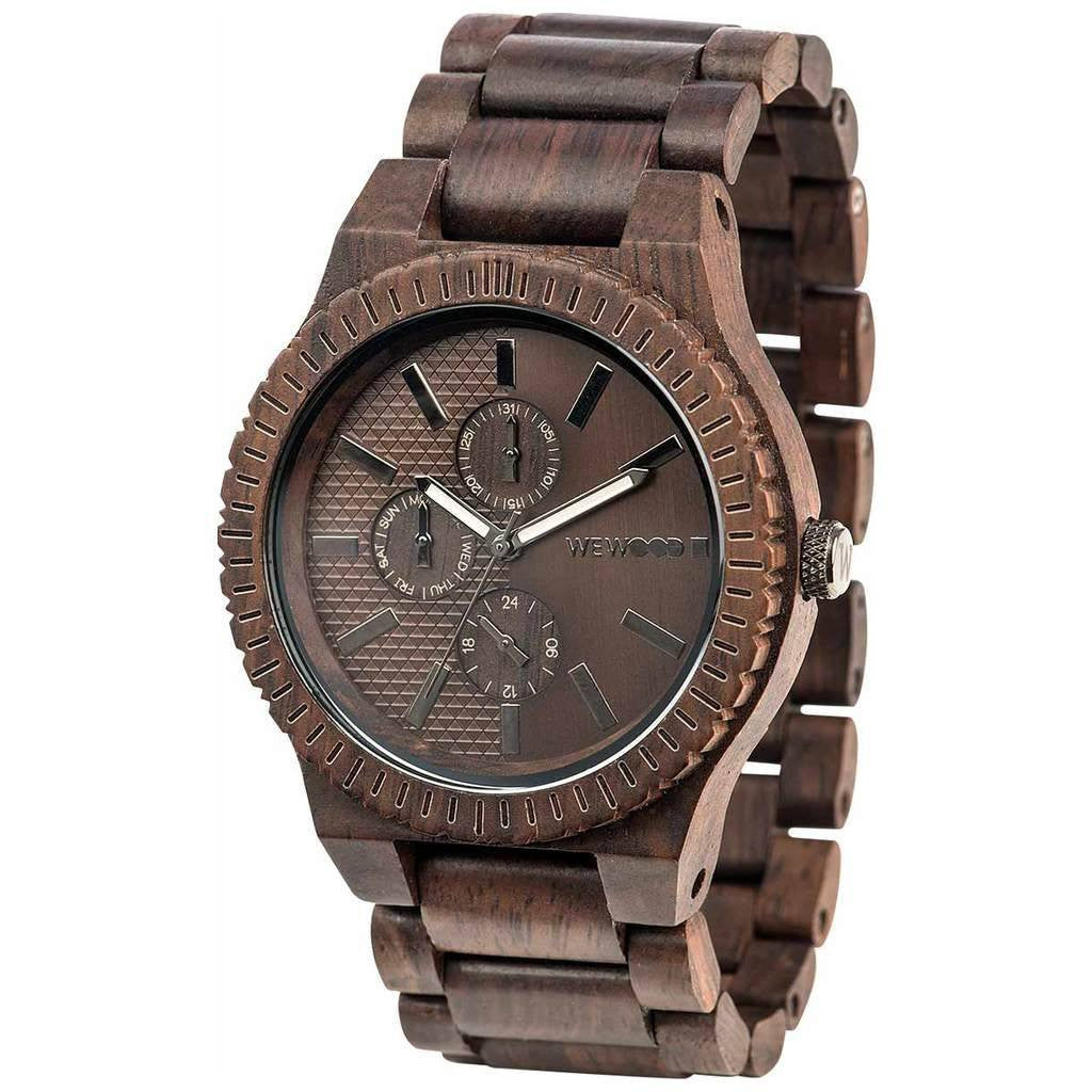 WeWood Kos Indian Rosewood Watch | Chocolate/Gun- WKCGUN