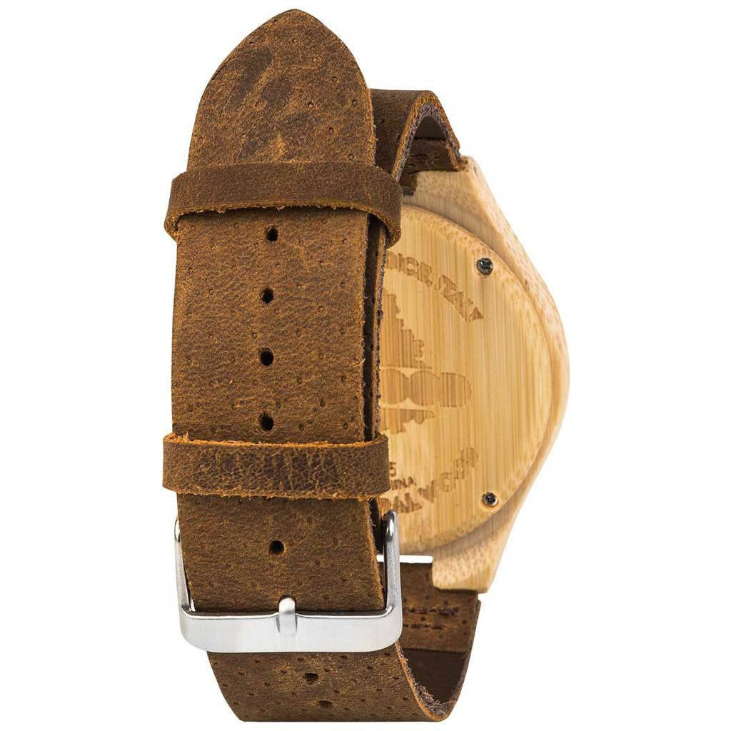 WeWood Dellium Bamboo Wood Watch | Bamboo/Leather-WDELUMB