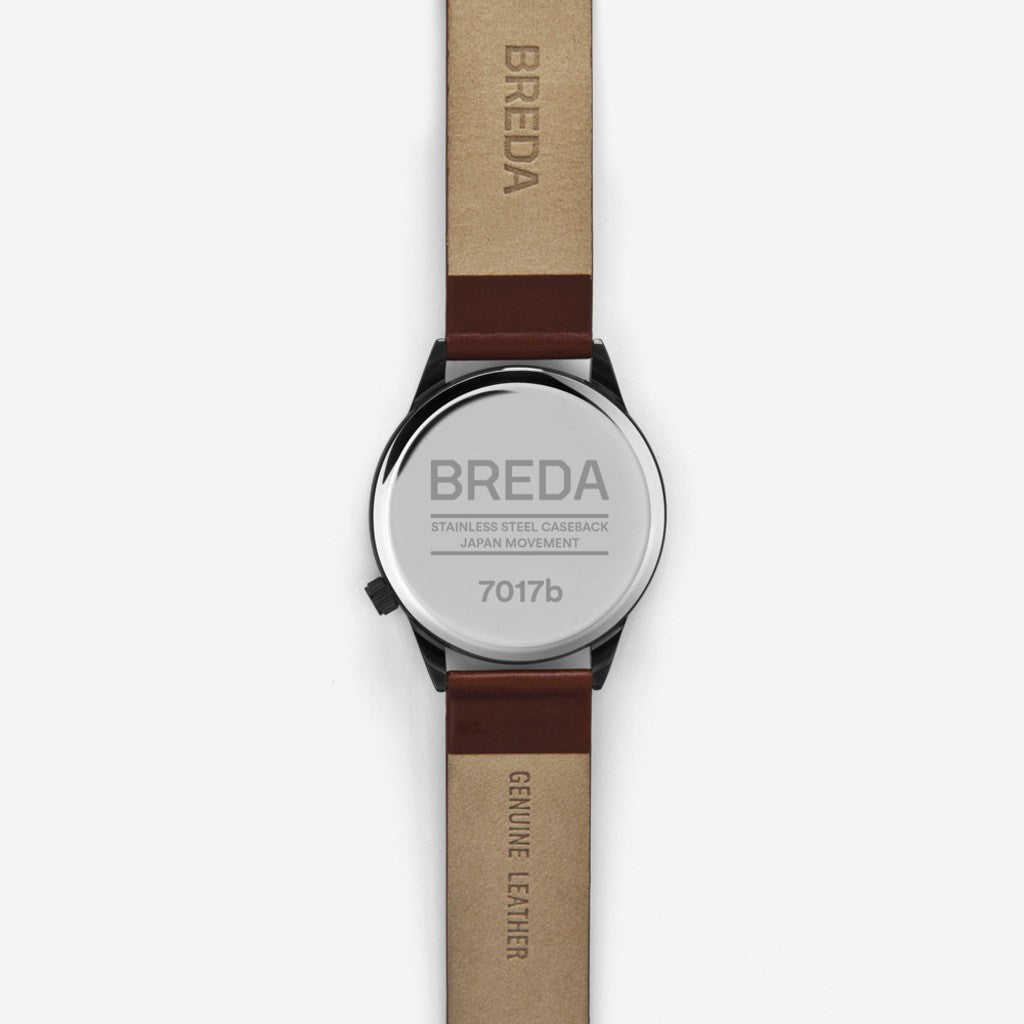 Breda Watches Slate Watch | Gunmetal/Brown 7017b