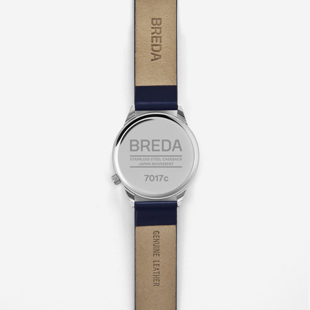 Breda Watches Slate Watch | Silver/Navy 7017c