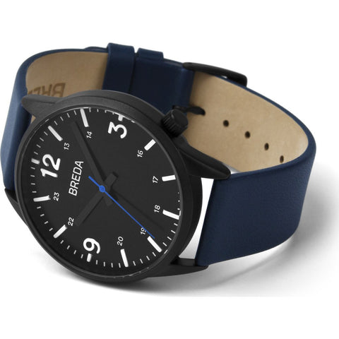 Breda Watches Slate Watch | Black/Navy 7017e