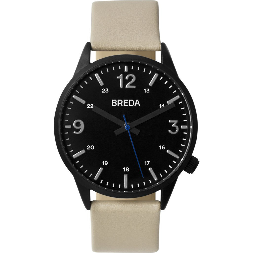 Breda Watches Slate Watch | Black/Beige 7017g